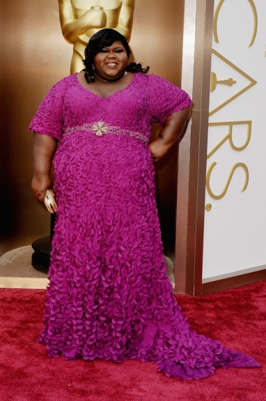 Gabourey Sidibe - 2014 Oscars - Black Celebrities