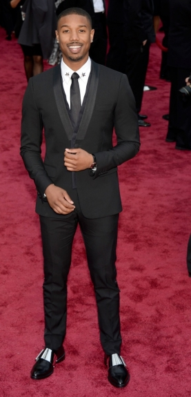 Michael B. Jordan - - 2014 Oscars - Black Celebrities