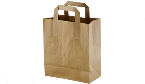 Brown Paper Bag White Background